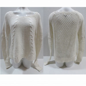 American Eagle sweater Large mixed knit pullover